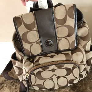Coach signature backpack. Measures 14 x 14
